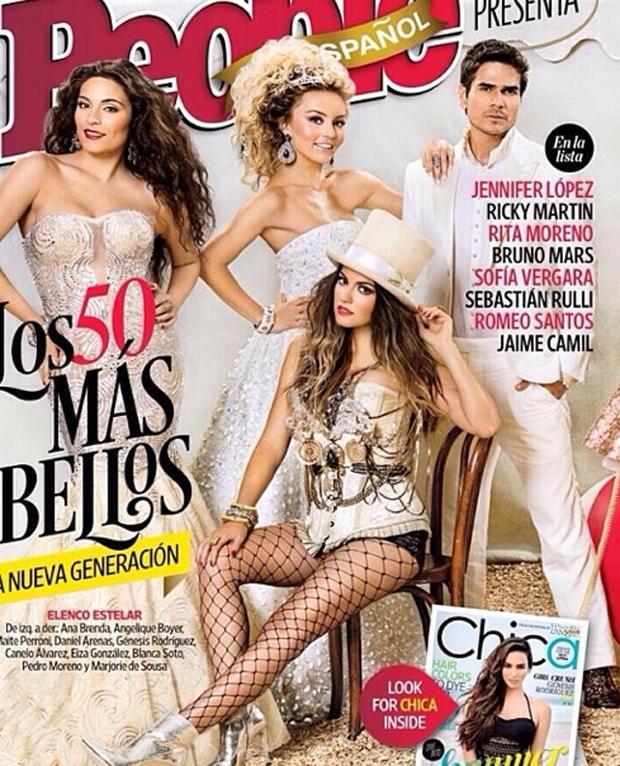 Los 50 Más Bellos, Angelique Boyer, Ana Brenda Contreras, Maite Perroni, Daniel Arenas