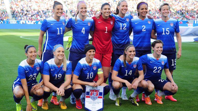 La selección femenina de fútbol de los Estados Unidos en la Copa Mundial Femenina 2015. (Getty)