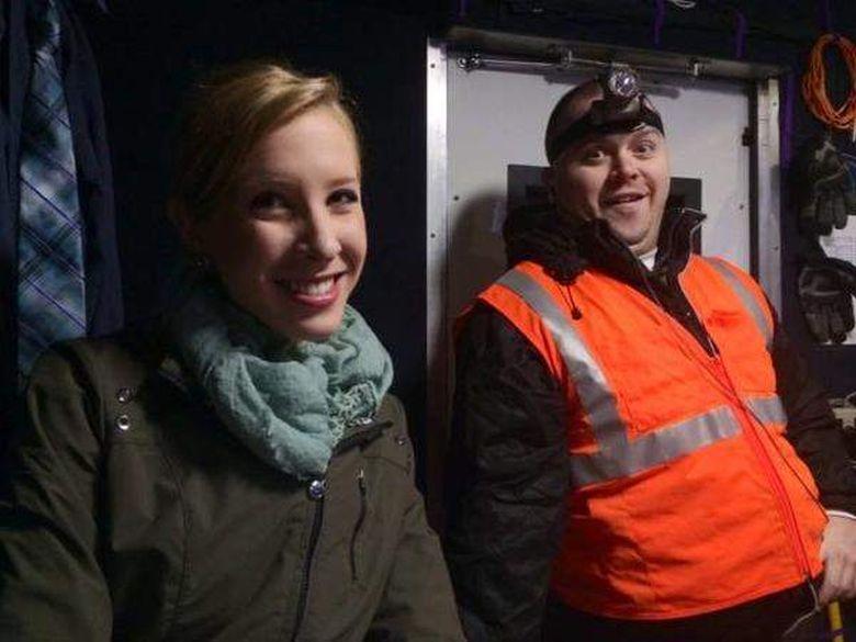 Adam Ward, derecha, con el periodista Allison Parker. (Heavy)