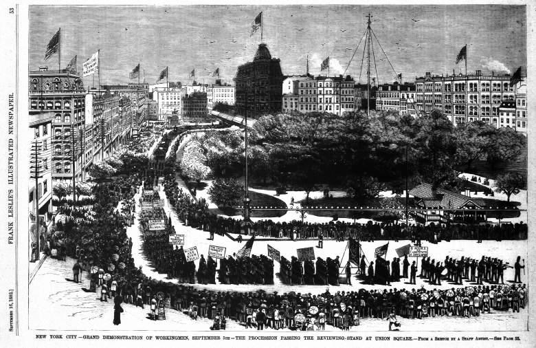 La primera vez que se celebró Labor Day en la ciudad de Nueva York. (Wikipedia)