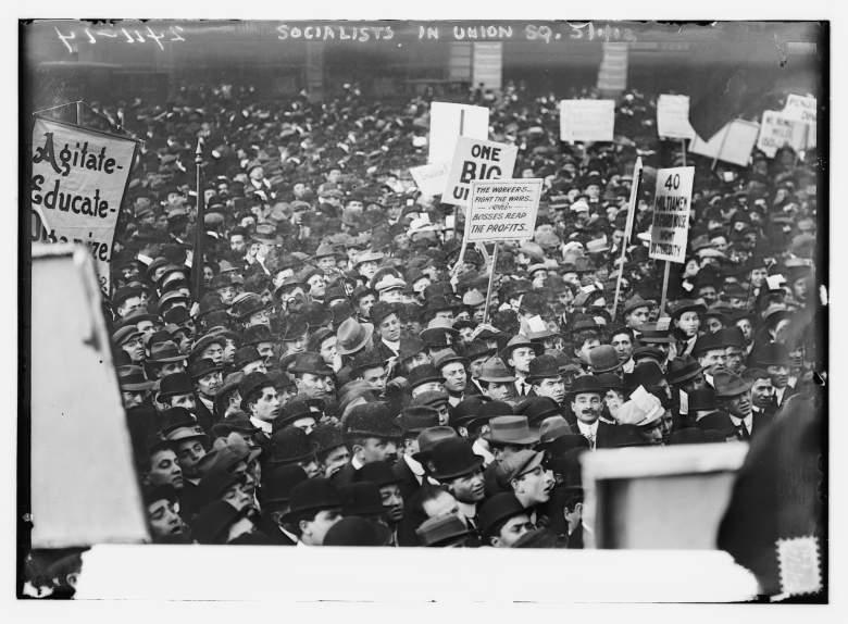 Las personas que marcharon en Union Square en 1912. (Wikipedia)
