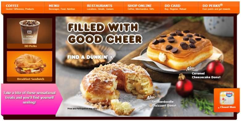 Dunkin Donuts esta abierto hoy, Dunkin Donuts navidad