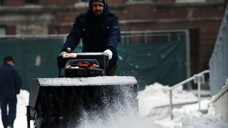 Cuando es la tormenta de nieve en Nueva York esta semana final, el sábado 23 de enero? (Getty