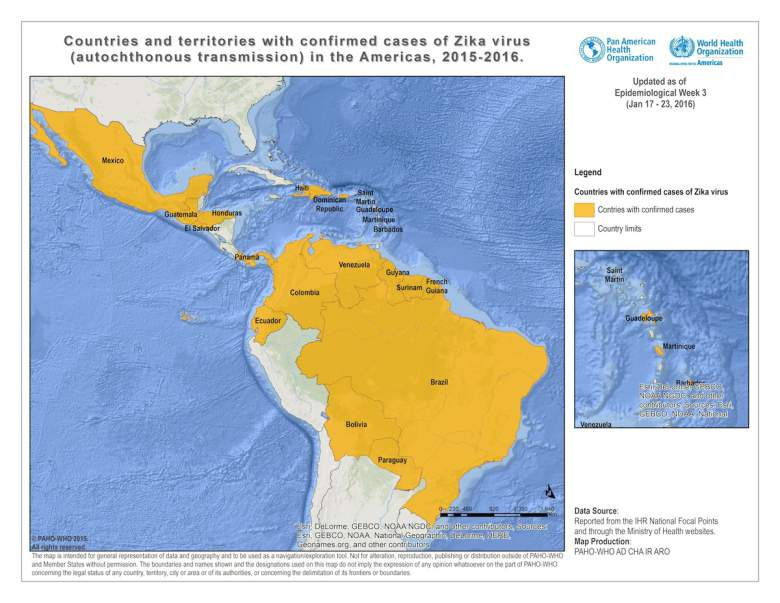 virus zika, zika virus, mapa de zika, zika noticias