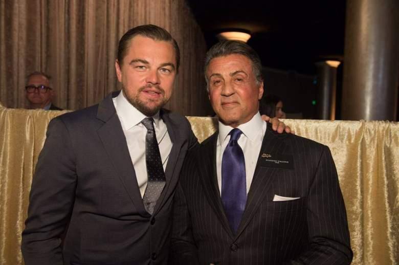 Leonardo DiCaprio y Sylvestre Stallone (Facebook)