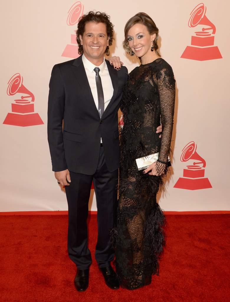 Carlos Vives y su esposa Claudia Elena Vásquez (Getty)