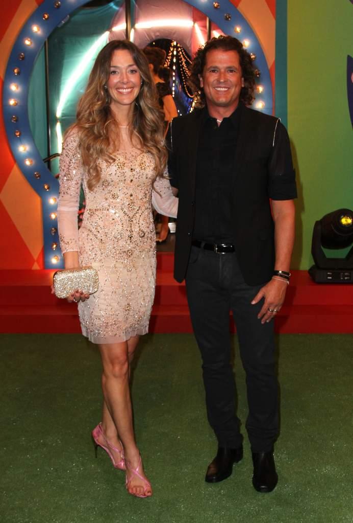 Carlos Vives se casó con la ex reina de belleza en el 2008. (Getty)