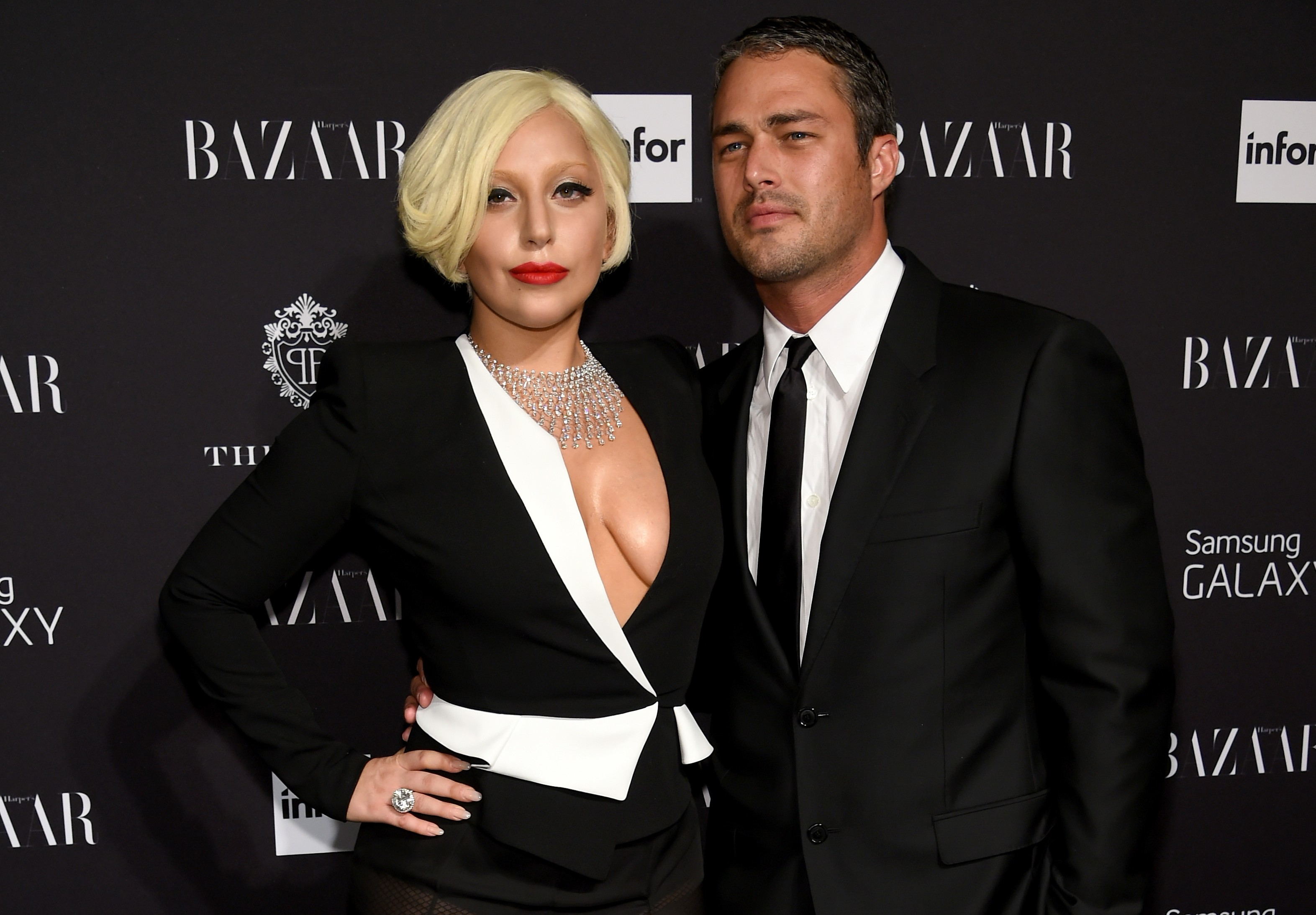 Lady Gaga y su novio Taylor Kinney (Getty)