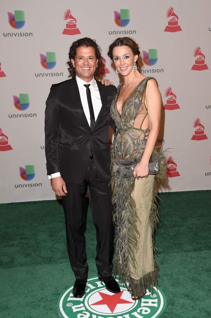 Carlos Vives y Elena Vásquez. (Getty)