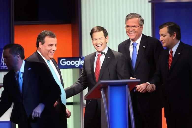 Candidato republicano Marco Rubio (en el centro) (Getty).