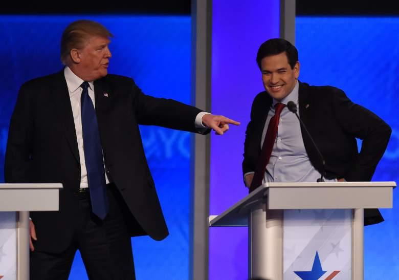 Marco Rubio y Donald Trump, GOP horario de debate, debate del Partido Republicano sábado siguiente debate del Partido Republicano, debate del Partido Republicano de Carolina del Sur, south carolina debate