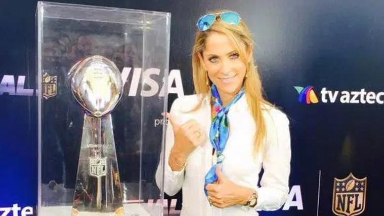 Super Bowl, Ines Sainz, periodista mexicana rubia