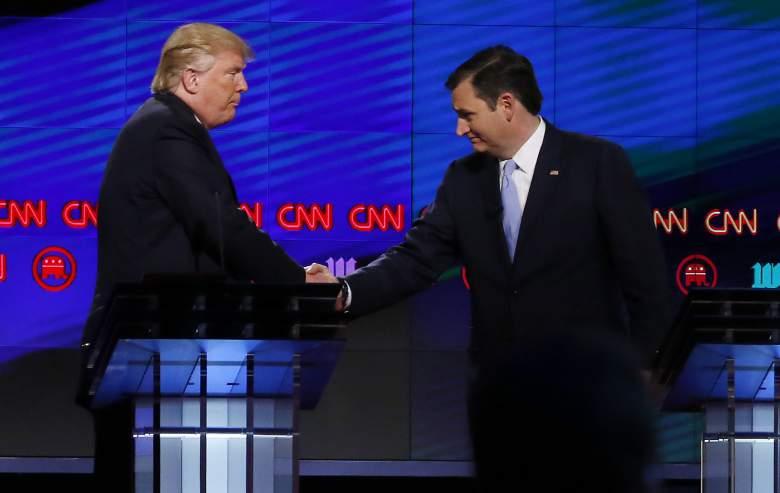 Donald Trump lleva Ted Cruz, en el conteo de delegados. (Getty)