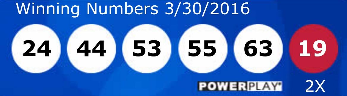 Powerball Números, Powerball numbers