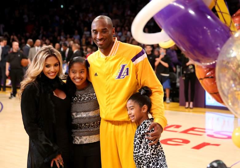 Kobe y Vanessa con las hijas Natalia y Gianna (Getty)