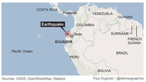 El 16 de abril Ecuador fue sorprendido con un terremoto de magnitud 7,8.