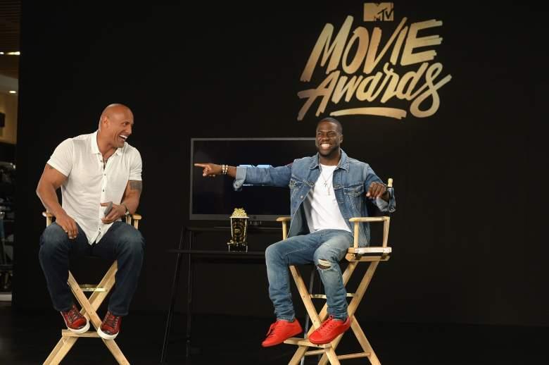 Dwayne Johnson y Kevin Hart son los anfitriones de los MTV Movie Award 2016. (Getty)