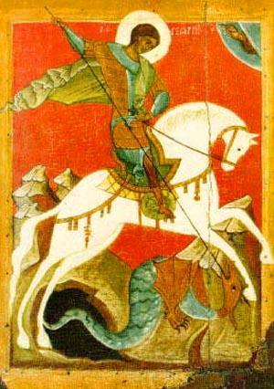 Una pintura del San Jorge. (Wikipedia)