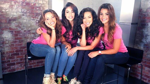 Catherine Castro (izq. a der.), Bárbara Turbay, Setareh Khatibi y Clarissa Molina. (Twitter)