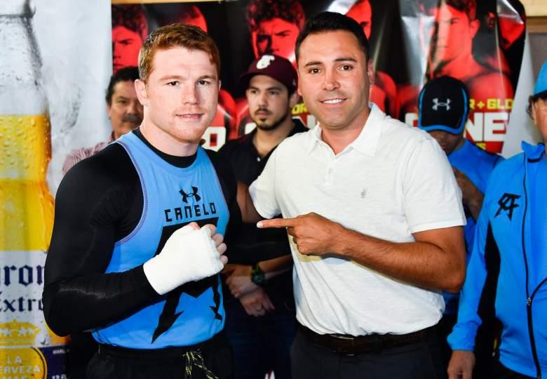 Canelo Álvarez y Oscar De La Hoya (Getty)