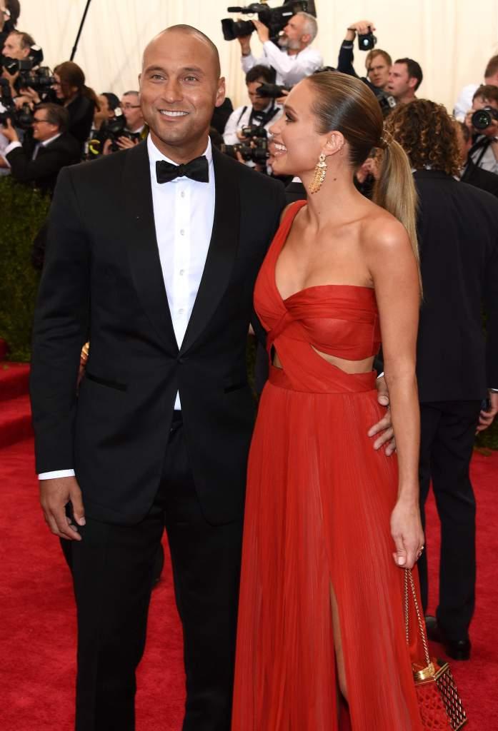 Derek Jeter y Hannah Davis. Los dos se comprometieron en 2015 después de una relación de tres años (Getty)