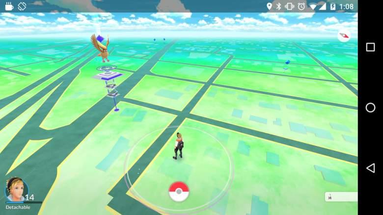 Pokemon Go se puede jugar en modo horizontal en iOS y Android. (Reddit / DetachableMonkey)