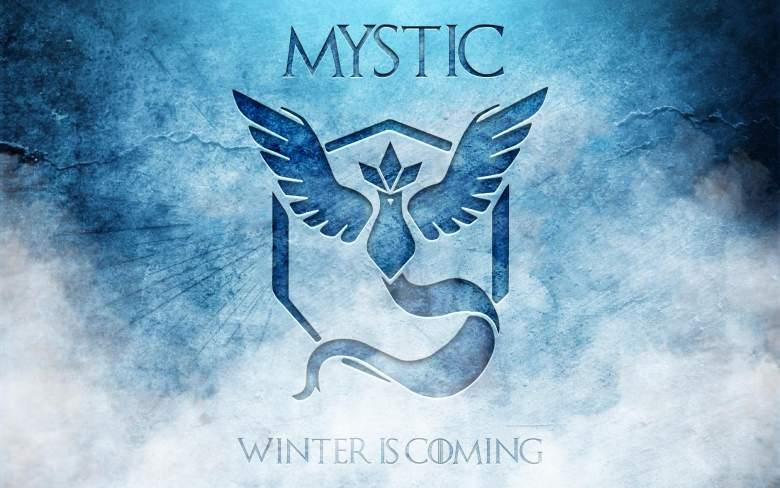 Los miembros del equipo de Mystic han producido toneladas de arte que compara su equipo a House Stark de 'Juego de Tronos'. ( Reddit / crazy8rex )