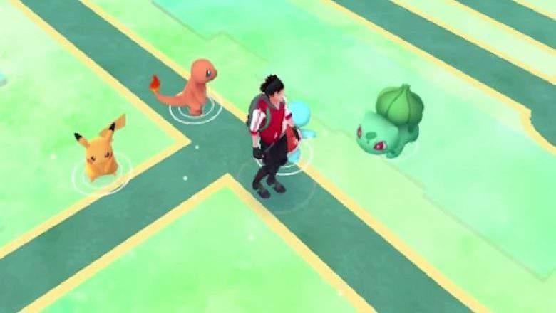 Si el jugador continúa a alejarse de los tres Pokémon iniciales, Pikachu aparecerá como una cuarta opción. (Niantic / informador del juego)
