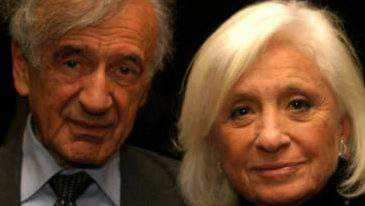 Elie Wiesel y su esposa Marion . Elie Wiesel and his wife Marion (Facebook/The Elie Wiesel Foundation for Humanity