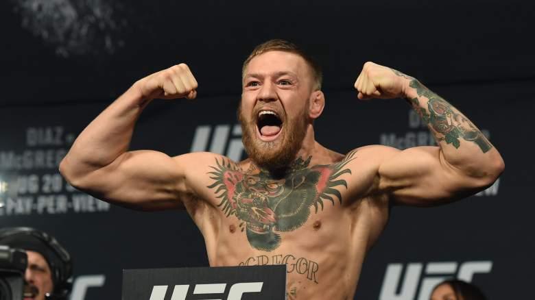 Conor McGregor lucha Nate Díaz en UFC 202 la noche del sábado. (Getty)