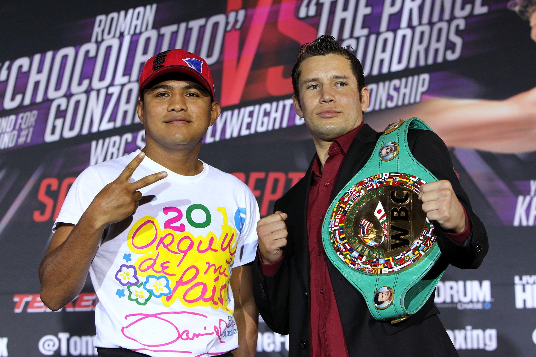 Román González se enfrenta a Carlso Cuadras el 10 de septiembre. (Chris Farina/K2 Promotions)