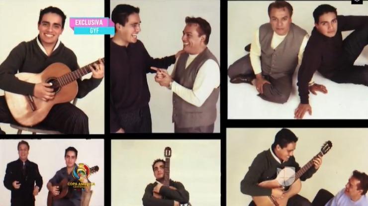Jorge Ortega con Juan Gabriel (Foto tomada de un video)