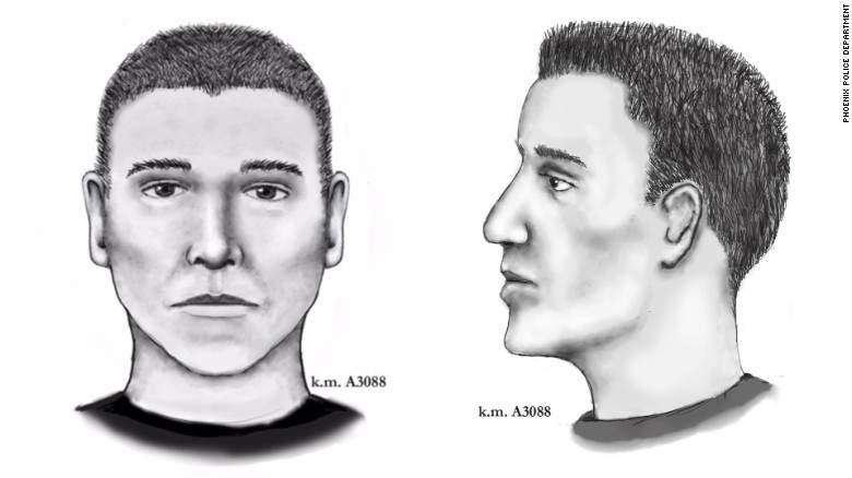 Este es el boceto del presunto asesino en serie en Phoenix. (Departamento de Policía en Phoenix)
