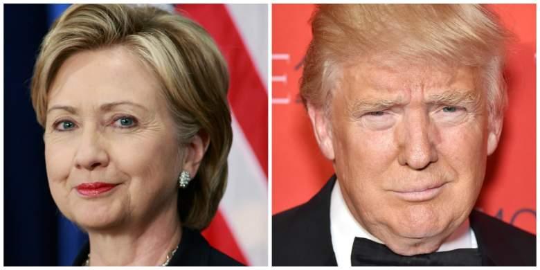 Hillary Clinton y Donald Trump. (Getty)