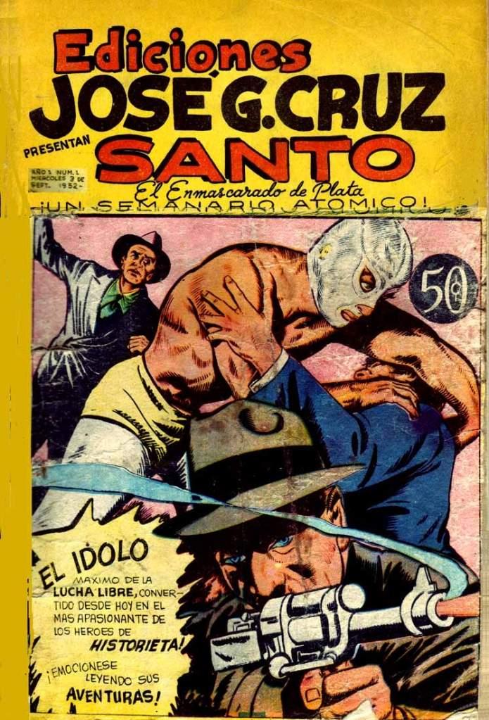El Santo se hizo popular en el mundo de los comics. (Twitter)