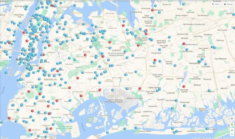 Un sitio web llamado Pokemon Go Map muestra todas las paradas y gimnasios en tu área. (Pokemon Go Map)