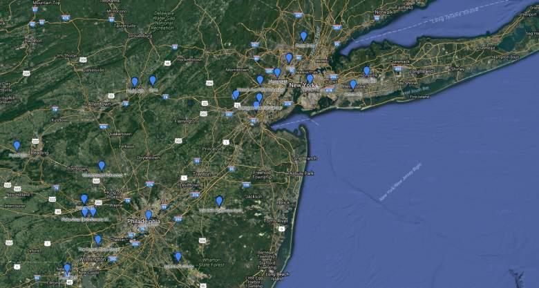 mapa de Poképaradas, mapas de Poképaradas, donde estan las Poképaradas
