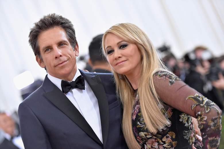 Ben Stiller y su esposa Christine Taylor. (Getty)