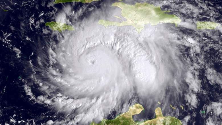 Esta foto muestra el huracán Matthew el Mar Caribe en dirección a Jamacia, Haití y Cuba el 3 de octubre de 2016. (Getty)