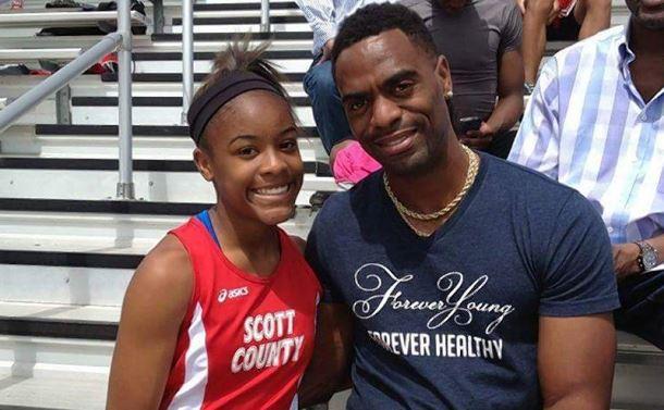 Trinity seguía los pasos de su famoso padre, el velocista Tyson Gay (Foto Facebook)