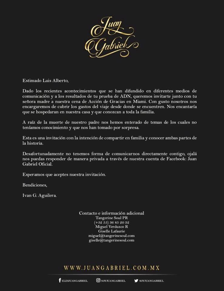 Ivan Aguilera comunicado Luis Aguilera