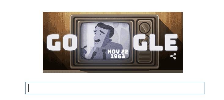 Google Doodle Walter Cronkite, Walter Cronkite, Google Doodle