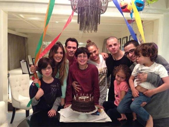 En el cumpleaños número 11 de Cristian el hijo que tuvo Marc con Dayana Torres.