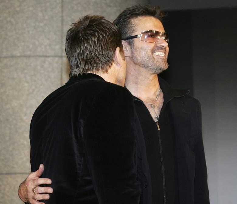 Kenny Goss y George Michael en 2005. (Getty)