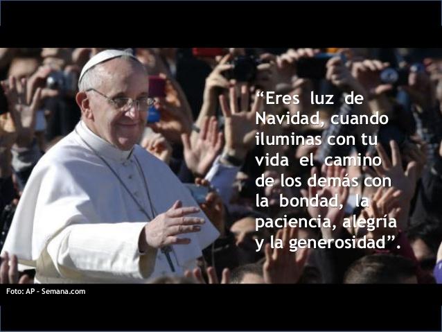 Navidad: Mensajes del Papa Francisco para compartir en las redes