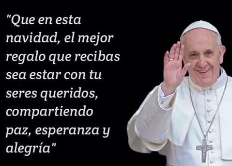Navidad: Mensajes del Papa Francisco para compartir en las redes sociales