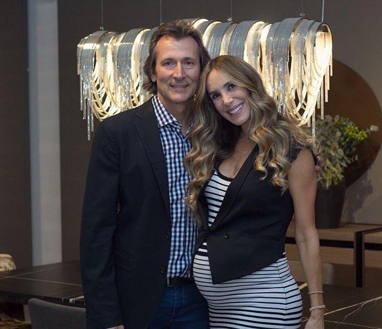 Natalia streignard y su esposo Calandriello