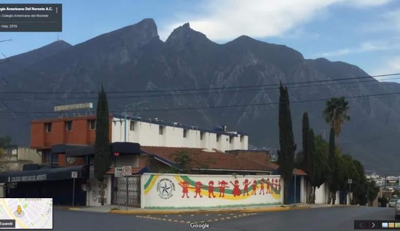 Colegio Americano del Noreste, en Monterrey, Nuevo León. (Imagen tomada de Google Maps)