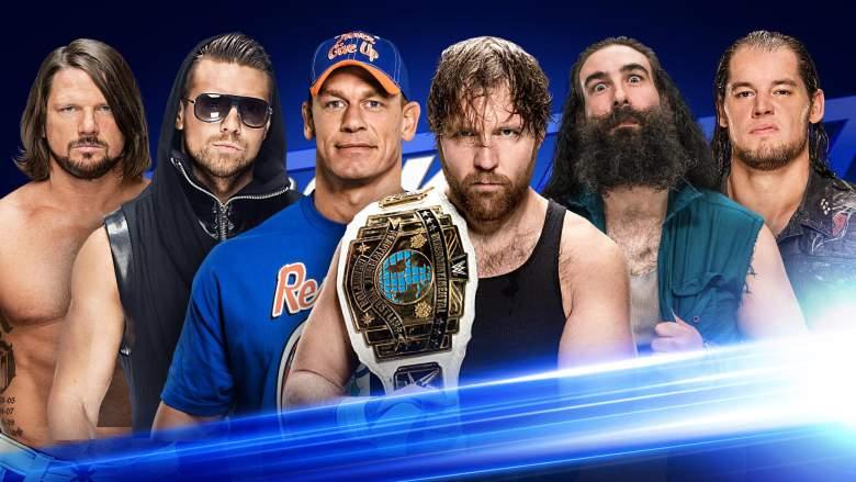Esta noche en SmackDown - 10 hombre se enfrentarán para la gran batalla. (WWE)