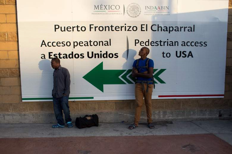 La frontera en El Chaparral. (Getty)